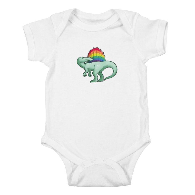 Spinosaurus Pride Kids Baby Bodysuit by Marty's Artist Shop