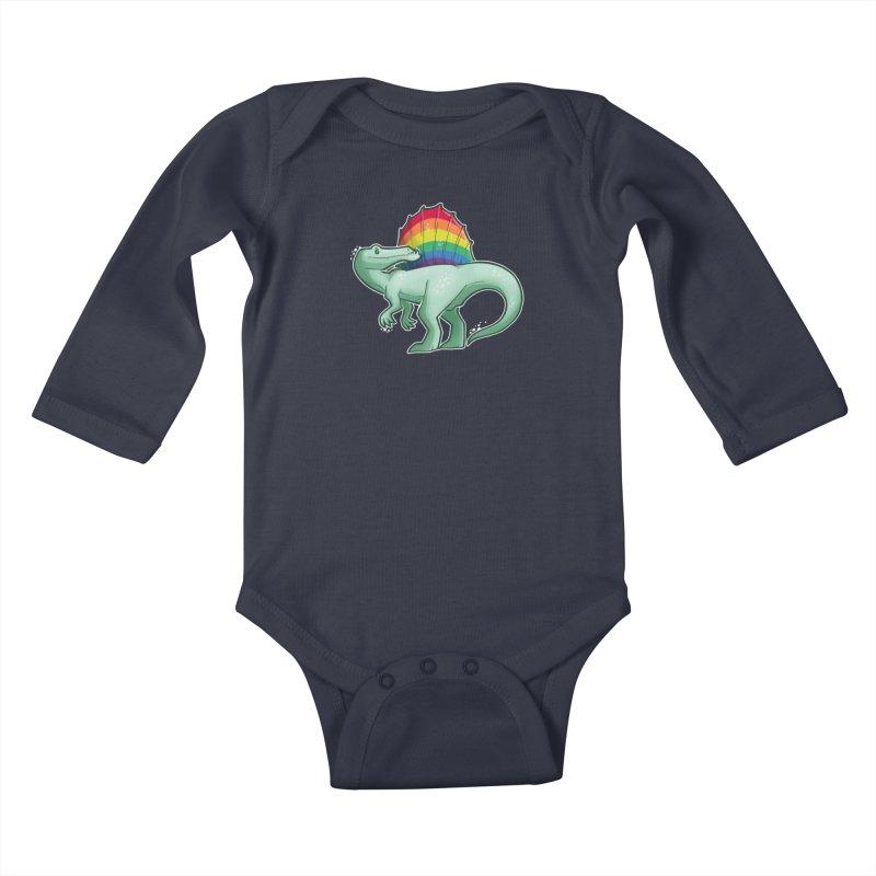 Spinosaurus Pride Kids Baby Longsleeve Bodysuit by Marty's Artist Shop
