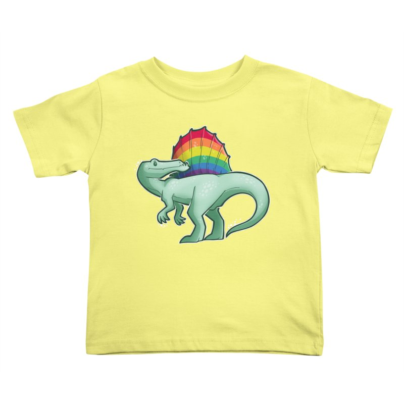 Spinosaurus Pride Kids Toddler T-Shirt by Marty's Artist Shop