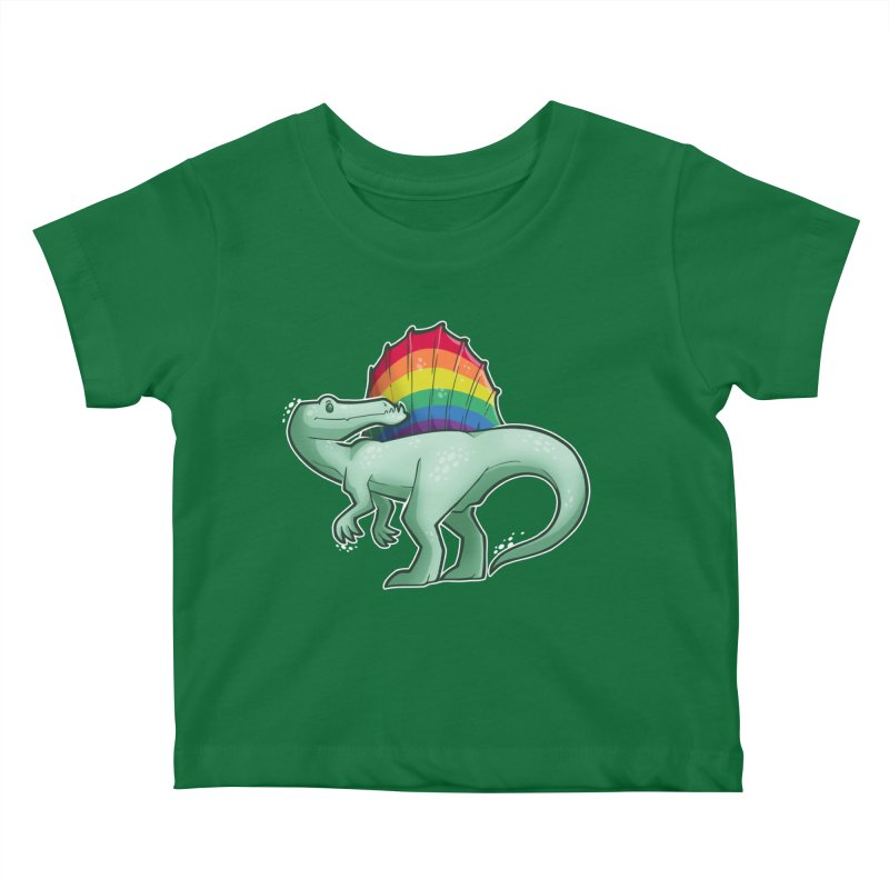 Spinosaurus Pride Kids Baby T-Shirt by Marty's Artist Shop