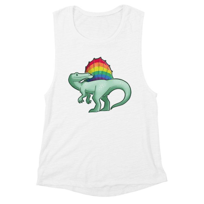 Spinosaurus Pride Women's Muscle Tank by Marty's Artist Shop