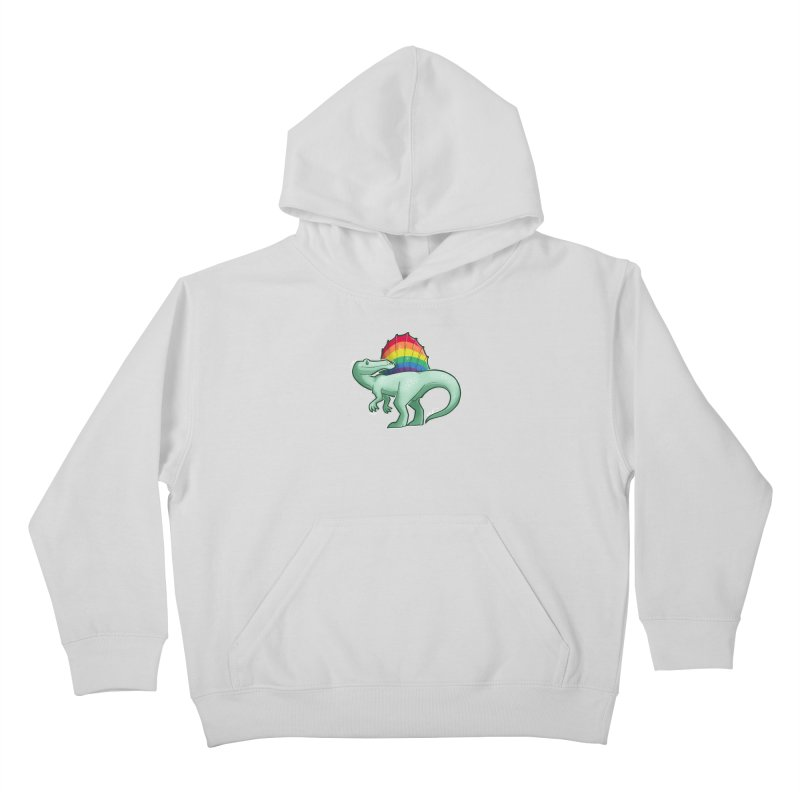 Spinosaurus Pride Kids Pullover Hoody by Marty's Artist Shop