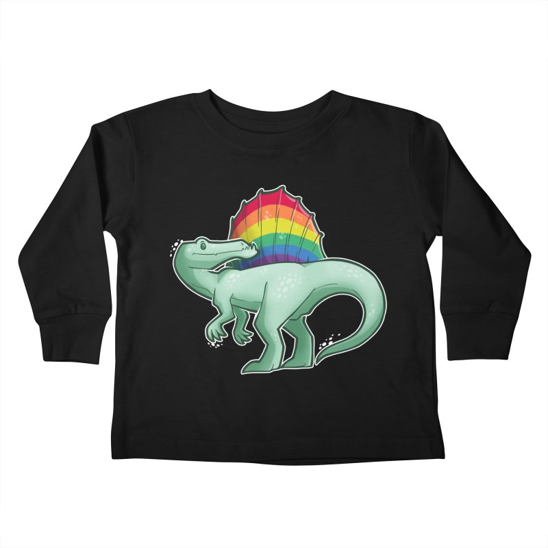 Spinosaurus Pride Kids Toddler Longsleeve T-Shirt by Marty's Artist Shop