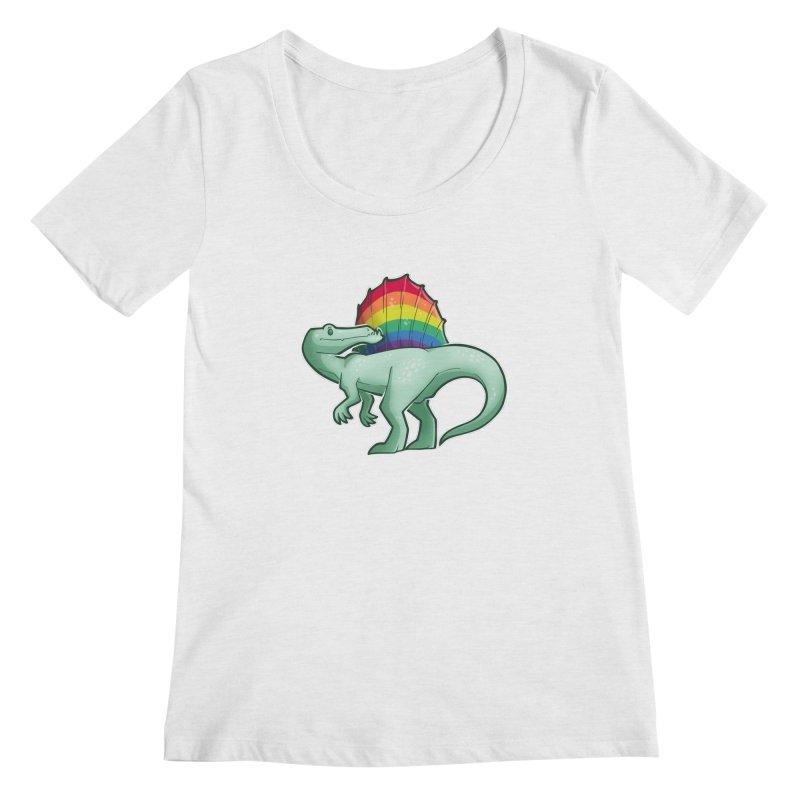 Spinosaurus Pride Women's Regular Scoop Neck by Marty's Artist Shop