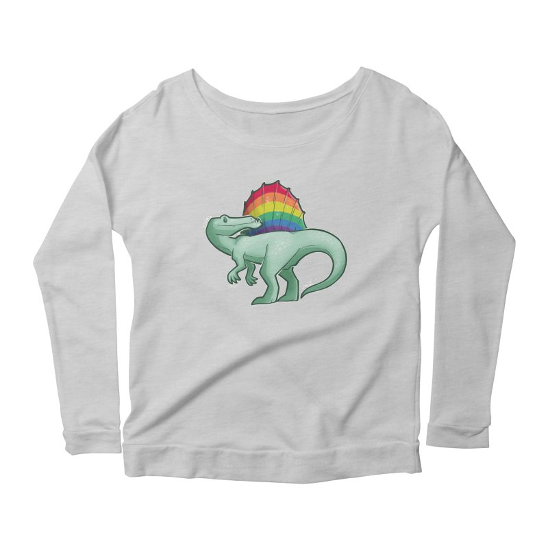 Spinosaurus Pride Women's Scoop Neck Longsleeve T-Shirt by Marty's Artist Shop