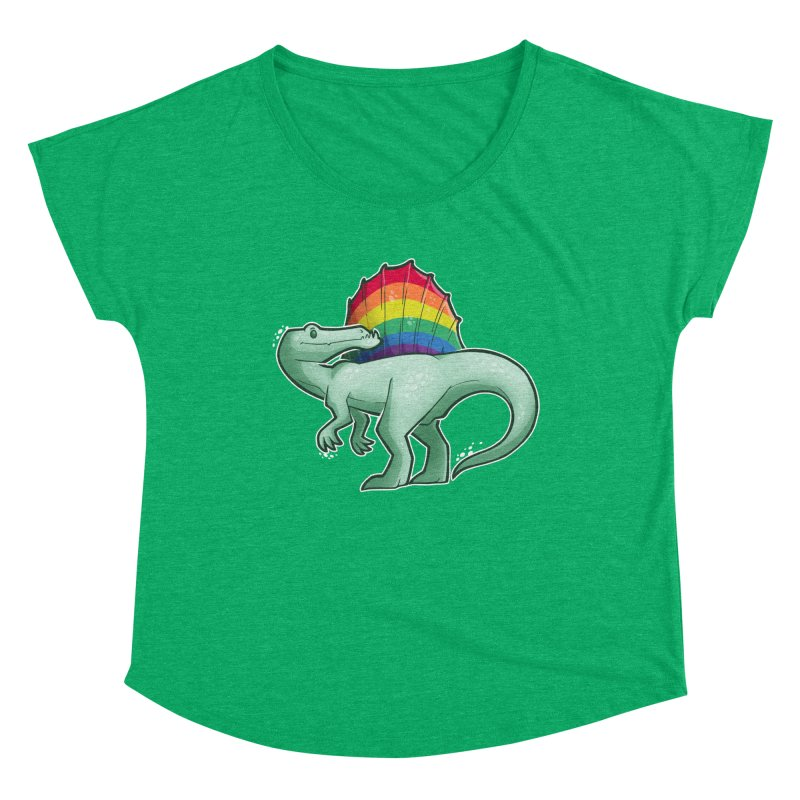 Spinosaurus Pride Women's Scoop Neck by Marty's Artist Shop