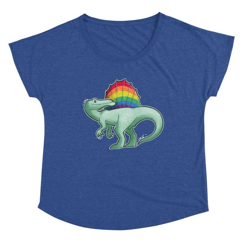 Spinosaurus Pride Women's Scoop Neck by Marty's Artist Shop
