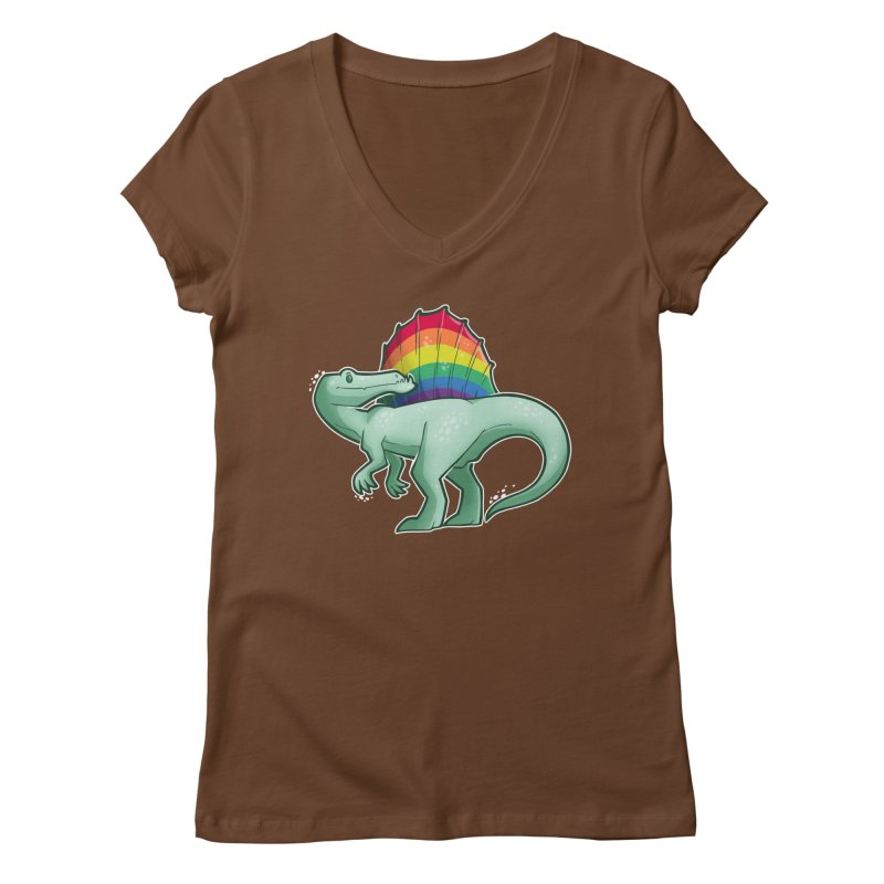 Spinosaurus Pride Women's Regular V-Neck by Marty's Artist Shop