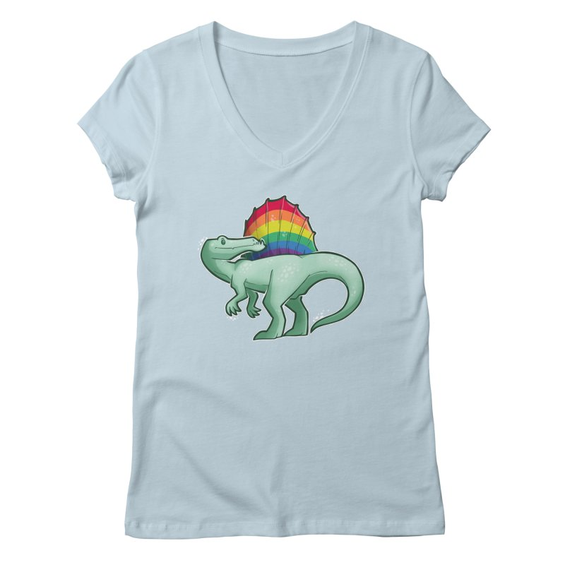 Spinosaurus Pride Women's Regular V-Neck by Marty's Artist Shop