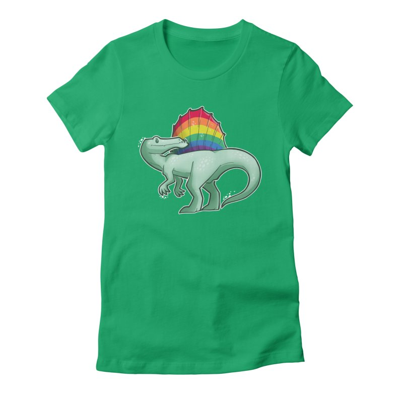 Spinosaurus Pride Women's Fitted T-Shirt by Marty's Artist Shop