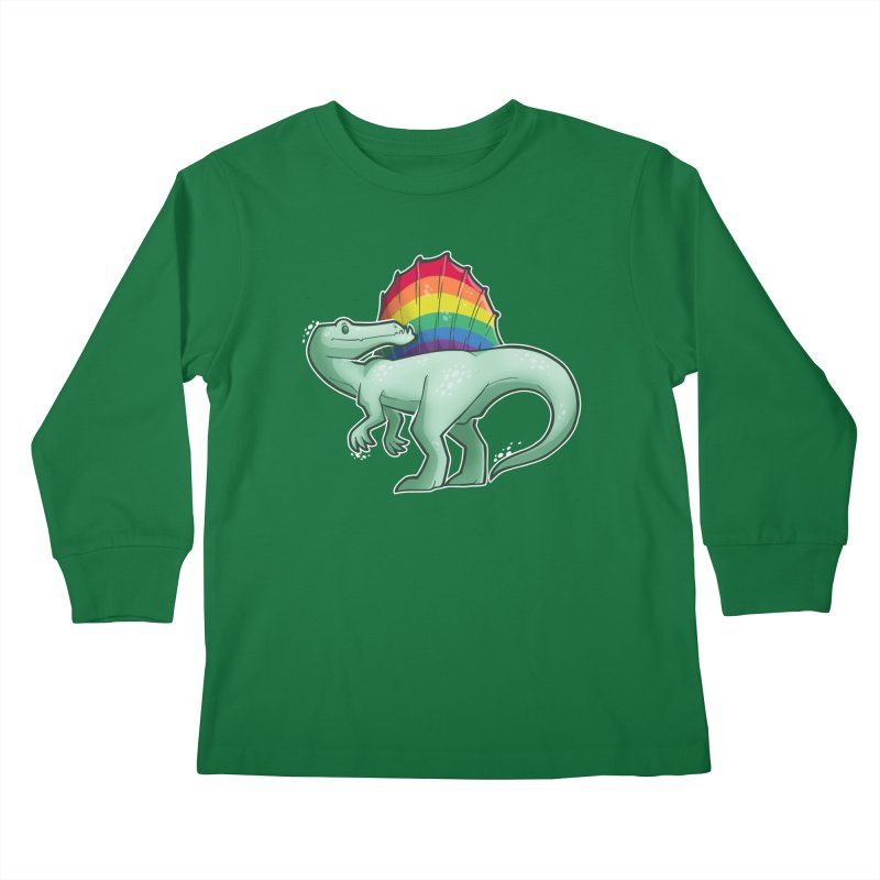 Spinosaurus Pride Kids Longsleeve T-Shirt by Marty's Artist Shop