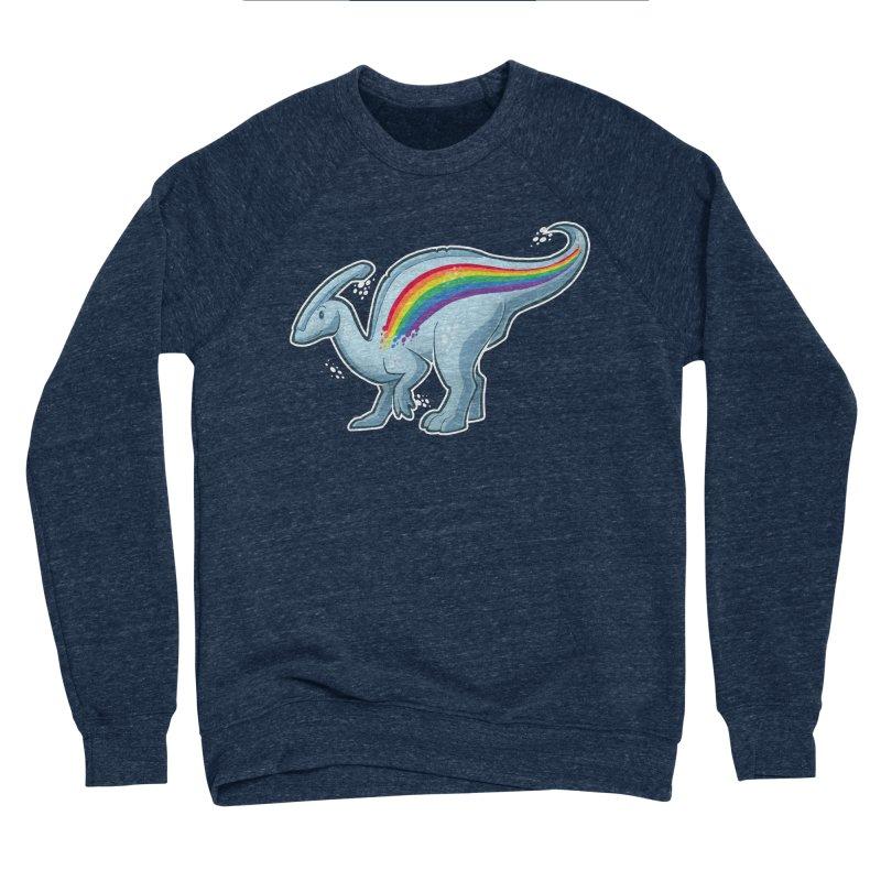 Prideasaurolophus Men's Sponge Fleece Sweatshirt by Marty's Artist Shop