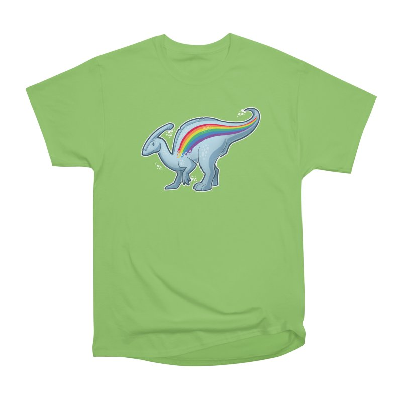 Prideasaurolophus Women's Heavyweight Unisex T-Shirt by Marty's Artist Shop