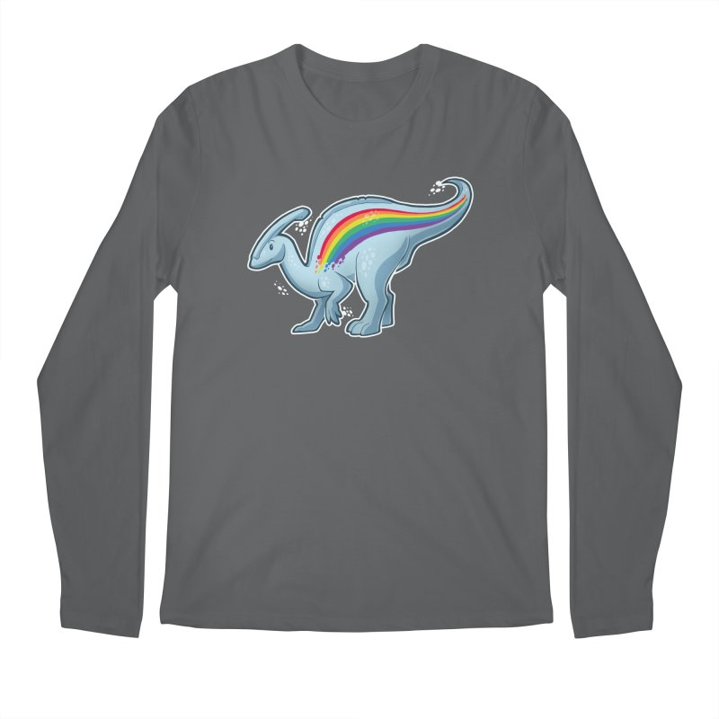 Prideasaurolophus Men's Regular Longsleeve T-Shirt by Marty's Artist Shop