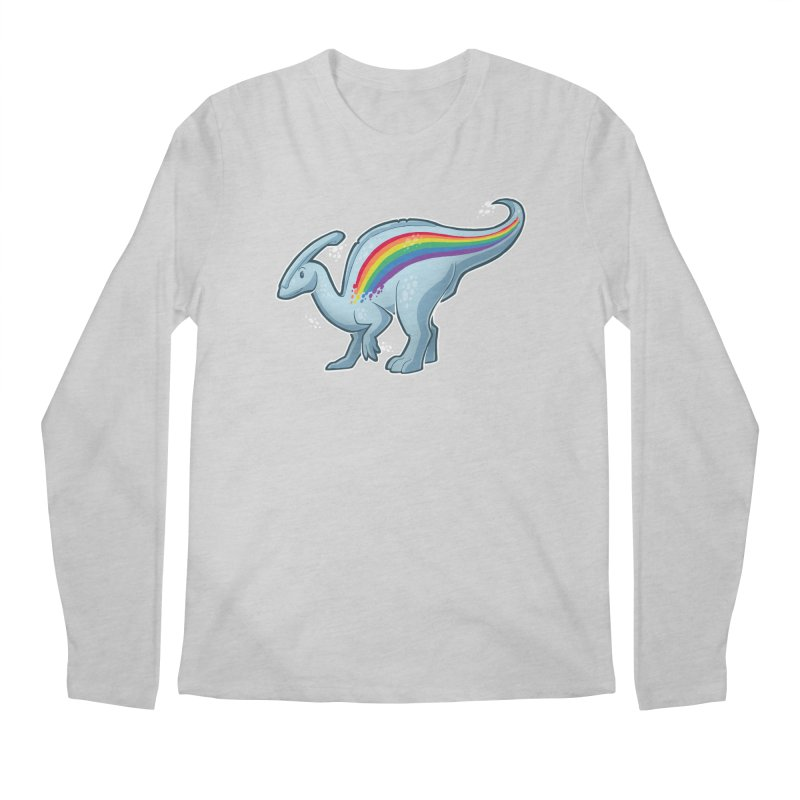 Prideasaurolophus Men's Longsleeve T-Shirt by Marty's Artist Shop