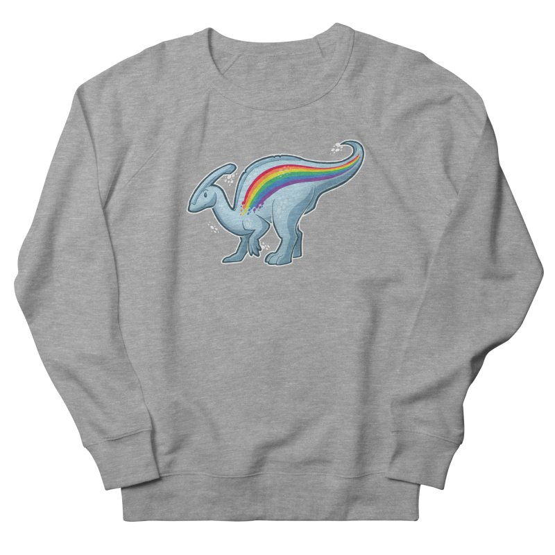 Prideasaurolophus Men's French Terry Sweatshirt by Marty's Artist Shop
