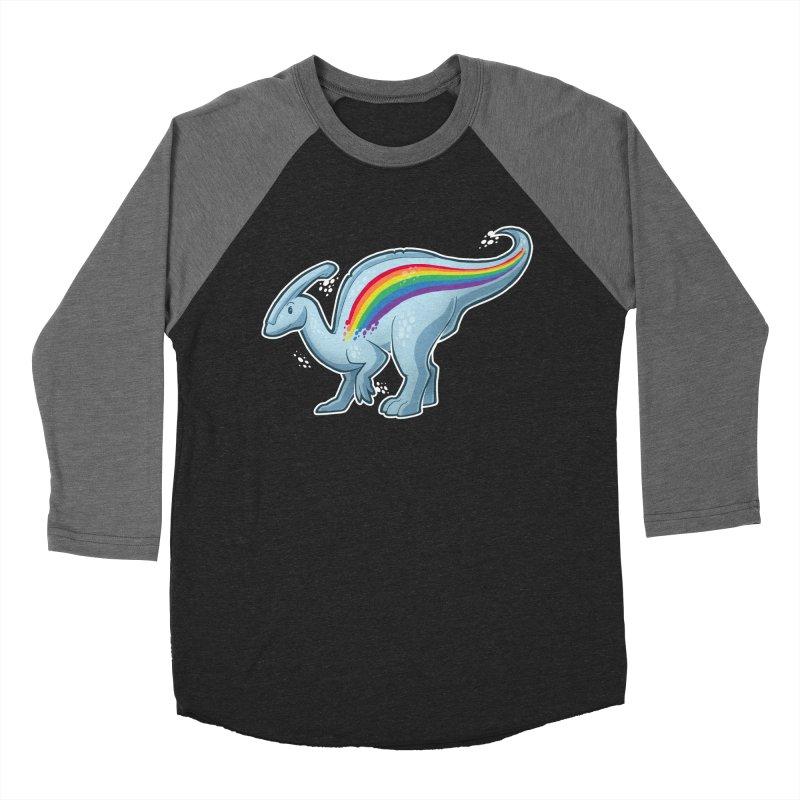 Prideasaurolophus Men's Baseball Triblend Longsleeve T-Shirt by Marty's Artist Shop