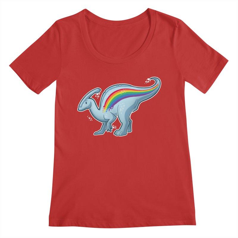 Prideasaurolophus Women's Regular Scoop Neck by Marty's Artist Shop