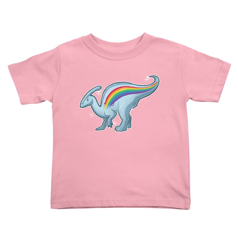 Prideasaurolophus Kids Toddler T-Shirt by Marty's Artist Shop
