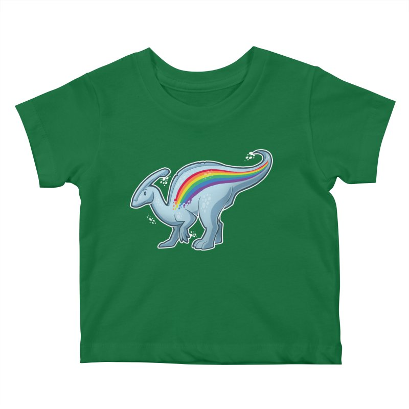 Prideasaurolophus Kids Baby T-Shirt by Marty's Artist Shop