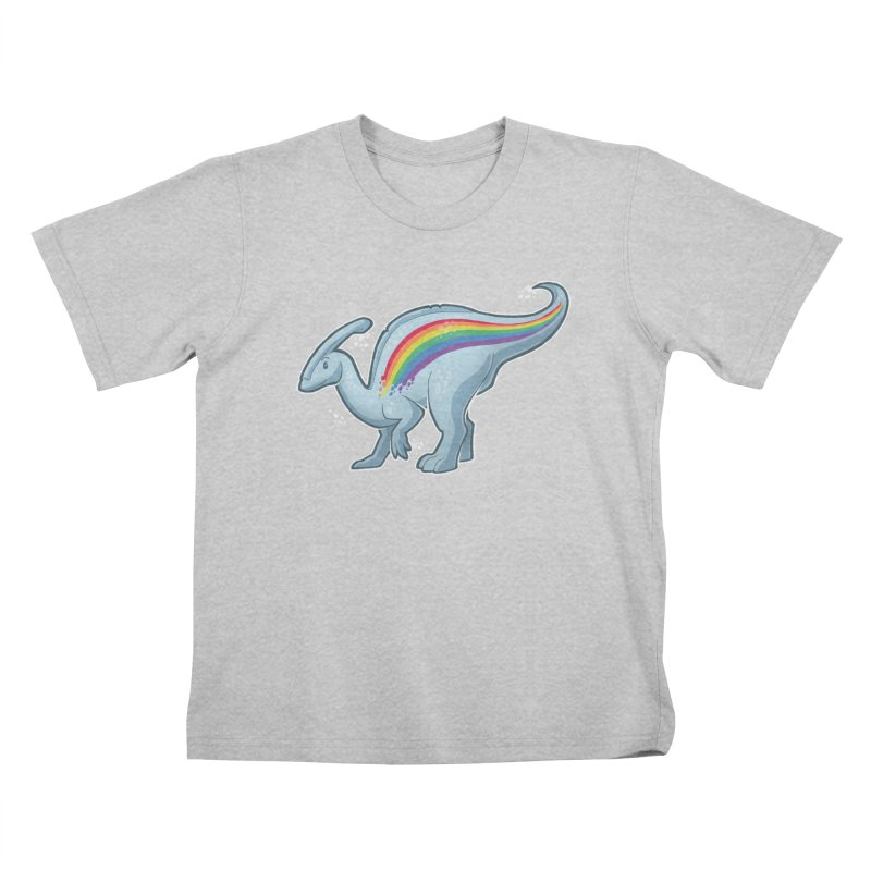 Prideasaurolophus Kids T-Shirt by Marty's Artist Shop
