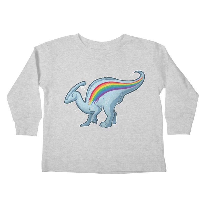 Prideasaurolophus Kids Toddler Longsleeve T-Shirt by Marty's Artist Shop