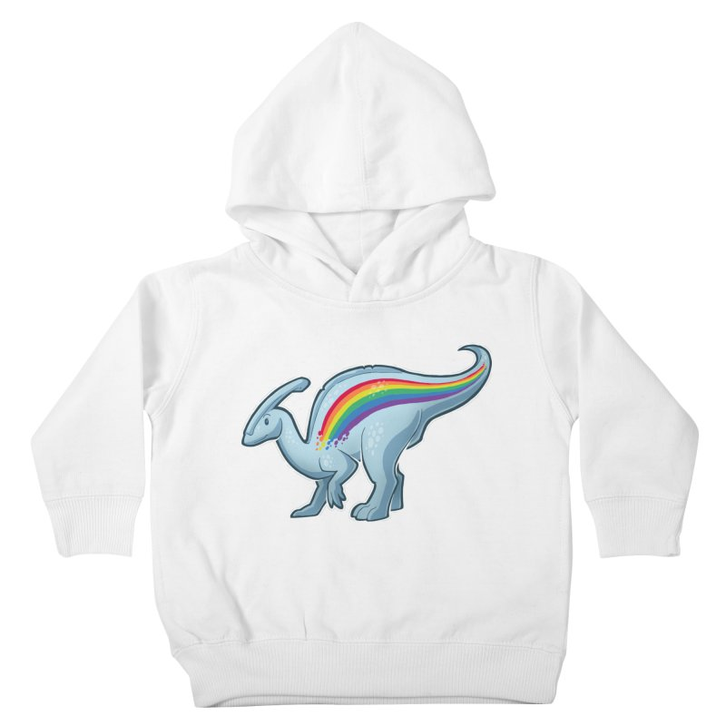 Prideasaurolophus Kids Toddler Pullover Hoody by Marty's Artist Shop