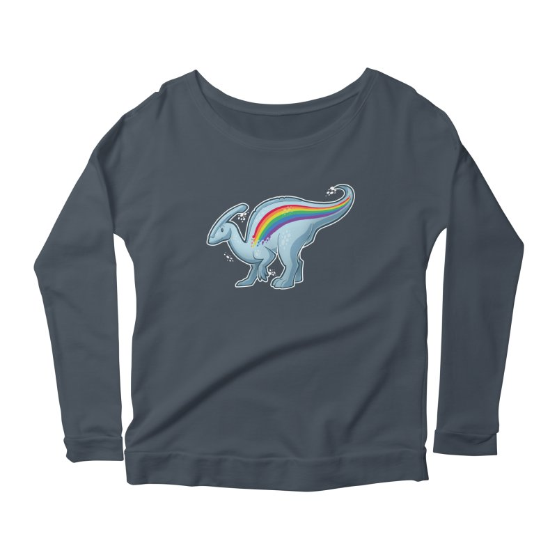 Prideasaurolophus Women's Scoop Neck Longsleeve T-Shirt by Marty's Artist Shop