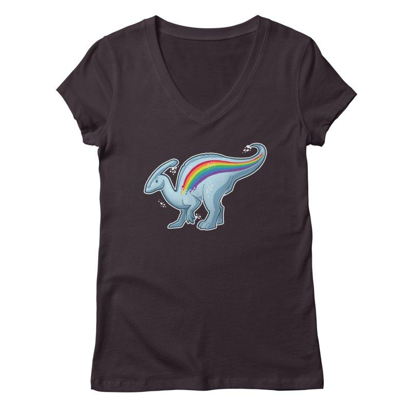 Prideasaurolophus Women's Regular V-Neck by Marty's Artist Shop