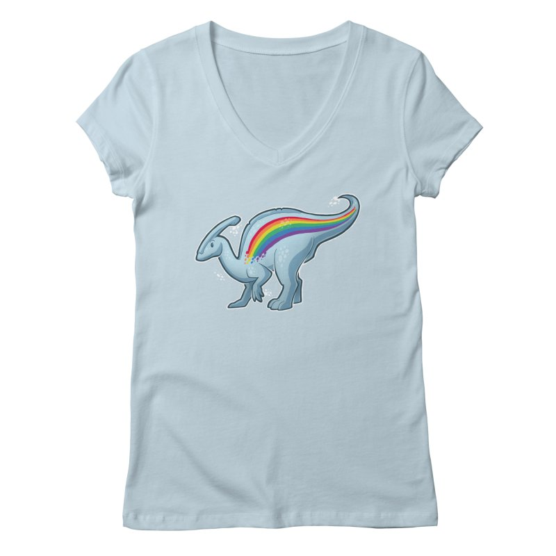 Prideasaurolophus Women's V-Neck by Marty's Artist Shop