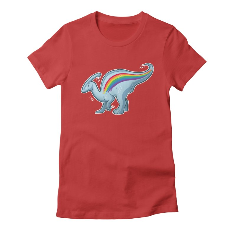 Prideasaurolophus Women's Fitted T-Shirt by Marty's Artist Shop