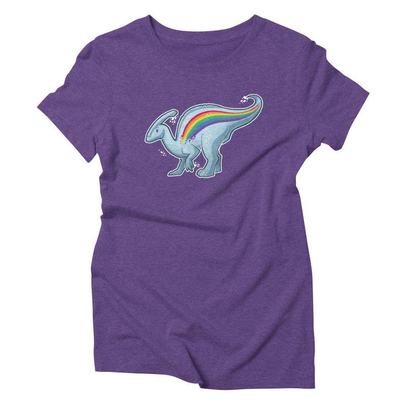 Prideasaurolophus Women's Triblend T-Shirt by Marty's Artist Shop