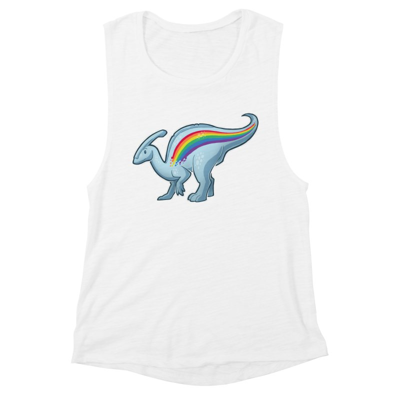 Prideasaurolophus Women's Muscle Tank by Marty's Artist Shop