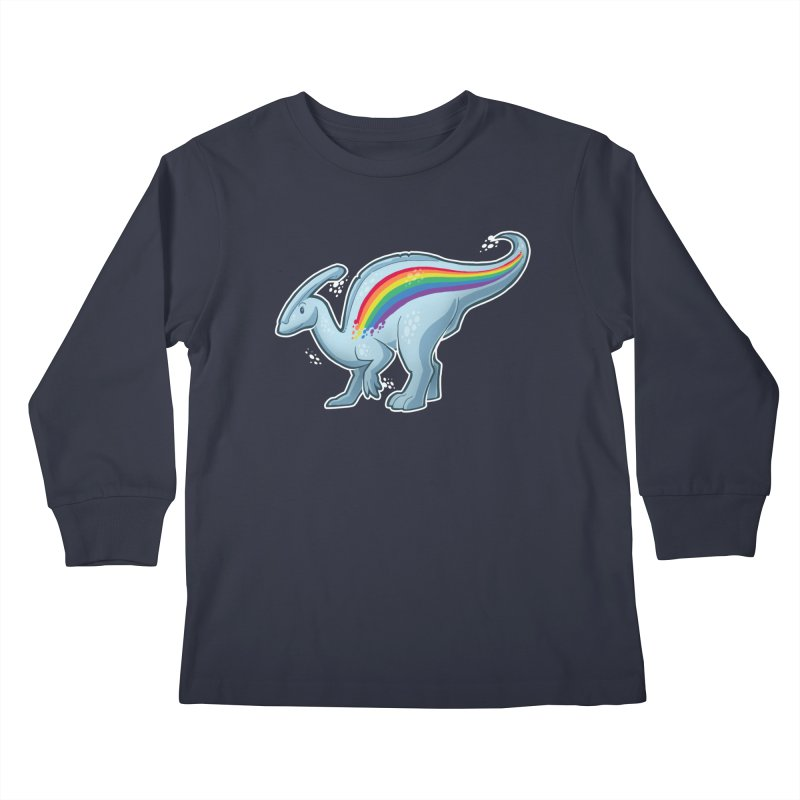 Prideasaurolophus Kids Longsleeve T-Shirt by Marty's Artist Shop