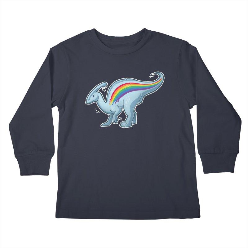 Prideasaurolophus Kids Longsleeve T-Shirt by Marty's Artist Shop