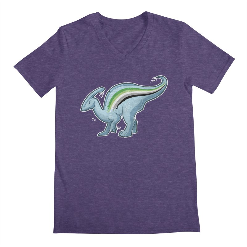 pAROsaurolophus Men's V-Neck by Marty's Artist Shop