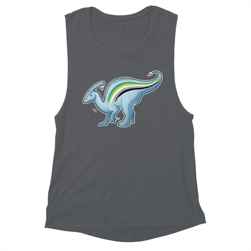 pAROsaurolophus Women's Muscle Tank by Marty's Artist Shop