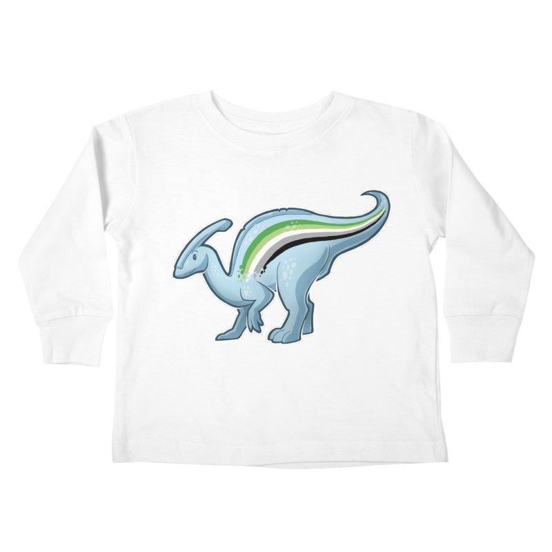 pAROsaurolophus Kids Toddler Longsleeve T-Shirt by Marty's Artist Shop
