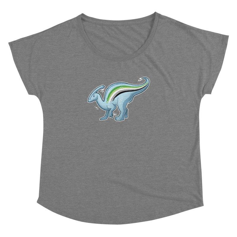 pAROsaurolophus Women's Dolman Scoop Neck by Marty's Artist Shop