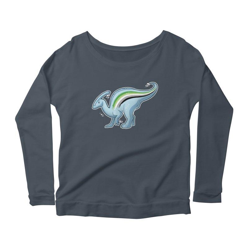 pAROsaurolophus Women's Scoop Neck Longsleeve T-Shirt by Marty's Artist Shop