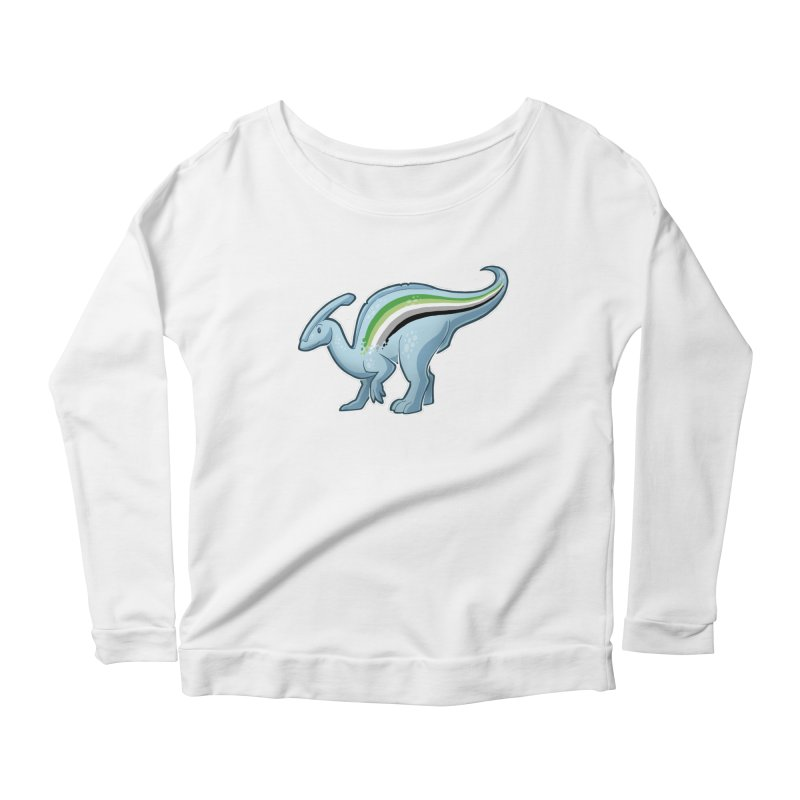 pAROsaurolophus Women's Scoop Neck Longsleeve T-Shirt by Marty's Artist Shop