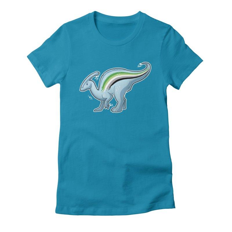 pAROsaurolophus Women's Fitted T-Shirt by Marty's Artist Shop