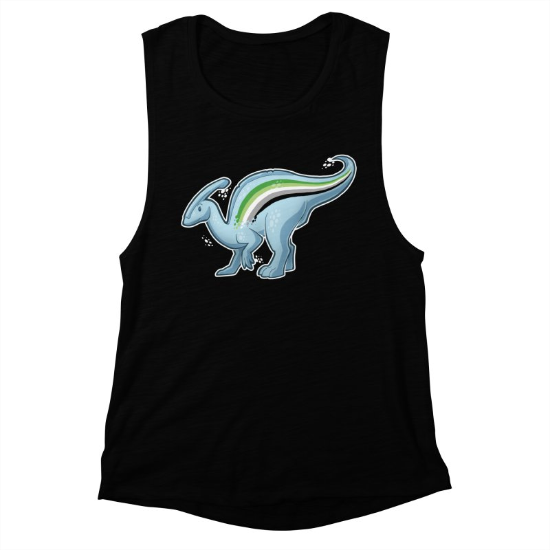 pAROsaurolophus Women's Muscle Tank by Marty's Artist Shop