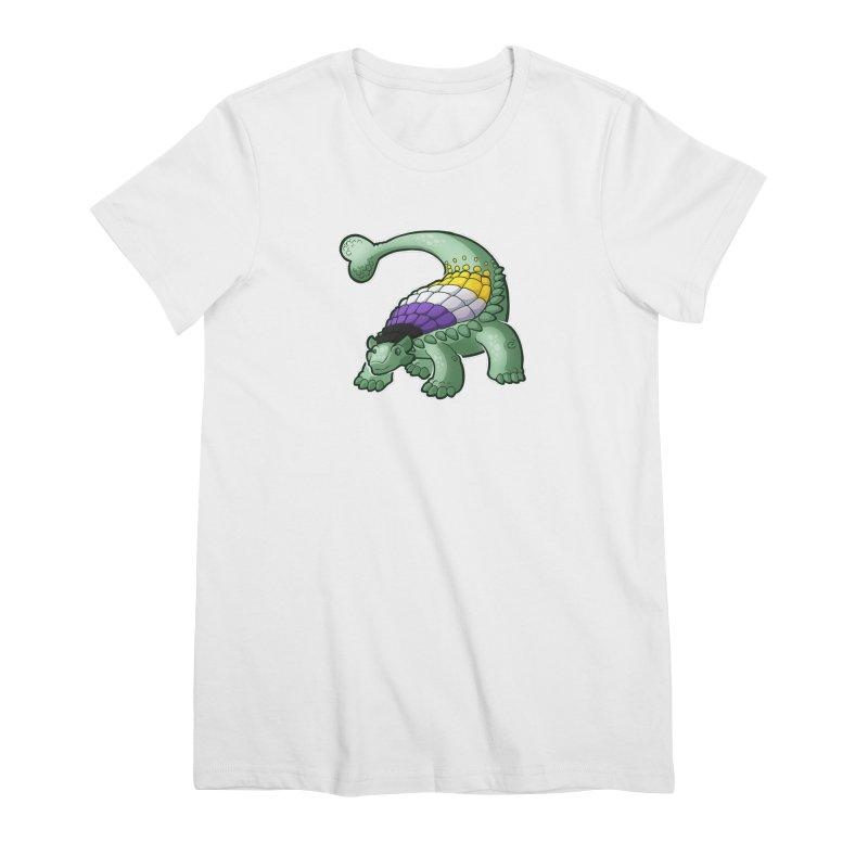 ENBYlosaurus Women's Premium T-Shirt by Marty's Artist Shop