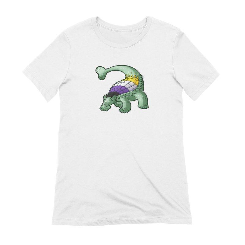 ENBYlosaurus Women's Extra Soft T-Shirt by Marty's Artist Shop