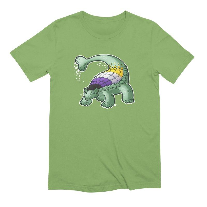 ENBYlosaurus Men's Extra Soft T-Shirt by Marty's Artist Shop