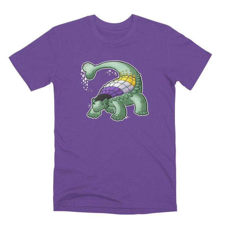 ENBYlosaurus Men's T-Shirt by Marty's Artist Shop