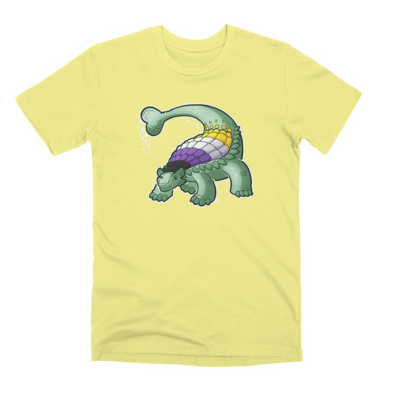 ENBYlosaurus Men's T-Shirt by Marty's Artist Shop