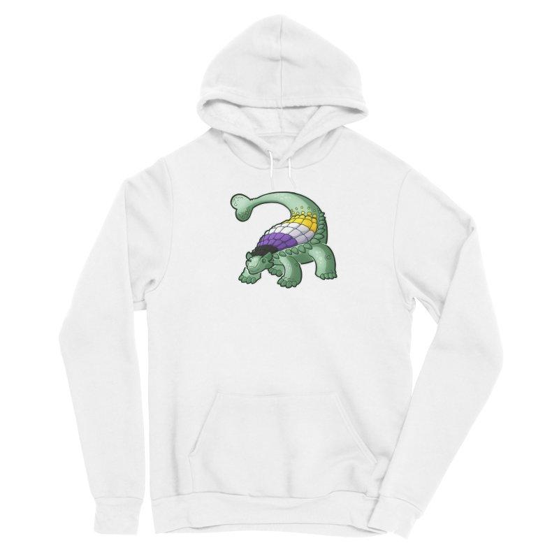 ENBYlosaurus Men's Pullover Hoody by Marty's Artist Shop