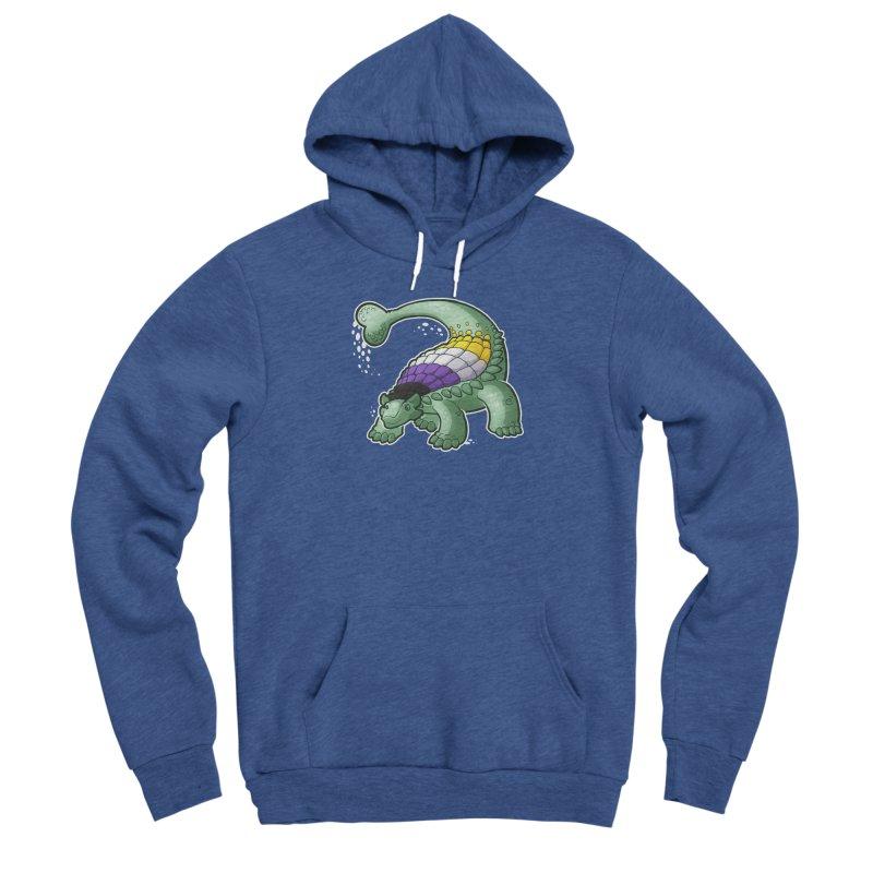 ENBYlosaurus Women's Pullover Hoody by Marty's Artist Shop